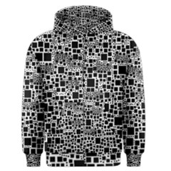 Block On Block, B&w Men s Zipper Hoodie