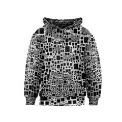 Block On Block, B&w Kids  Zipper Hoodie