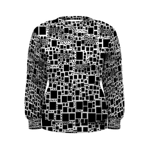 Block On Block, B&w Women s Sweatshirt