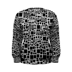Block On Block, B&w Women s Sweatshirt