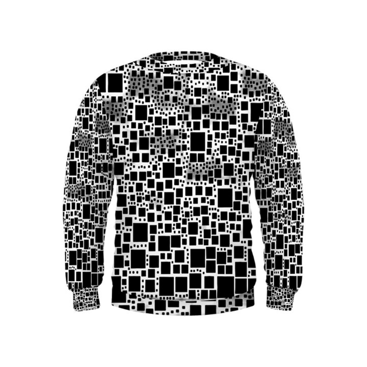 Block On Block, B&w Kids  Sweatshirt