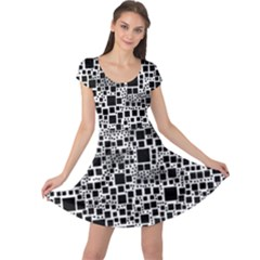 Block On Block, B&w Cap Sleeve Dresses