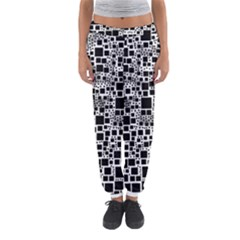 Block On Block, B&w Women s Jogger Sweatpants