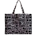 Block On Block, B&w Zipper Mini Tote Bag View1