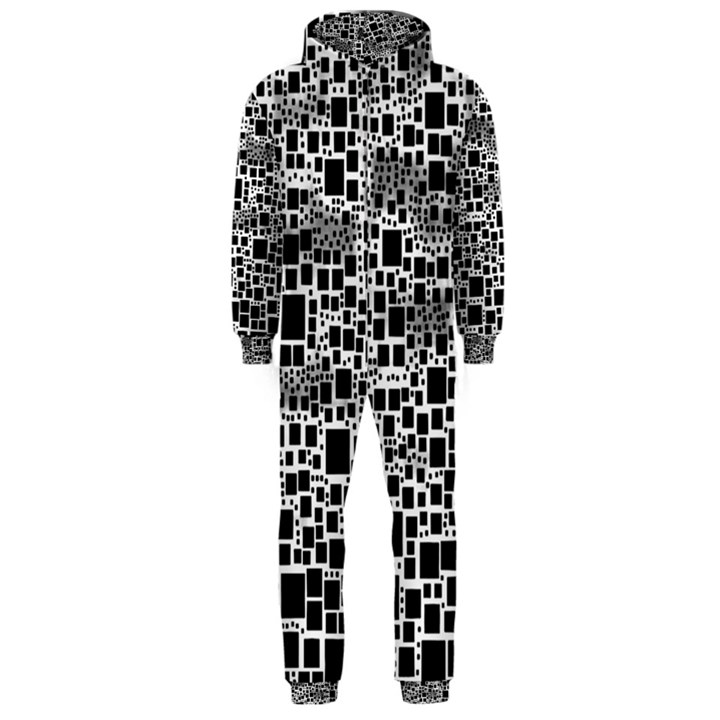 Block On Block, B&w Hooded Jumpsuit (Men)