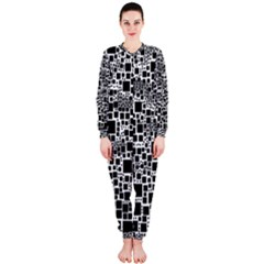 Block On Block, B&w Onepiece Jumpsuit (ladies)