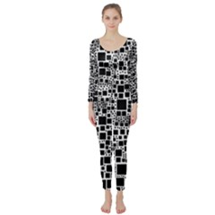 Block On Block, B&w Long Sleeve Catsuit