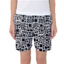 Block On Block, B&w Women s Basketball Shorts View1