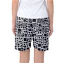 Block On Block, B&w Women s Basketball Shorts View2