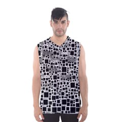 Block On Block, B&w Men s Basketball Tank Top