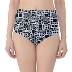 Block On Block, B&w High Waist Bikini Bottoms