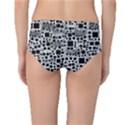 Block On Block, B&w Mid-Waist Bikini Bottoms View2