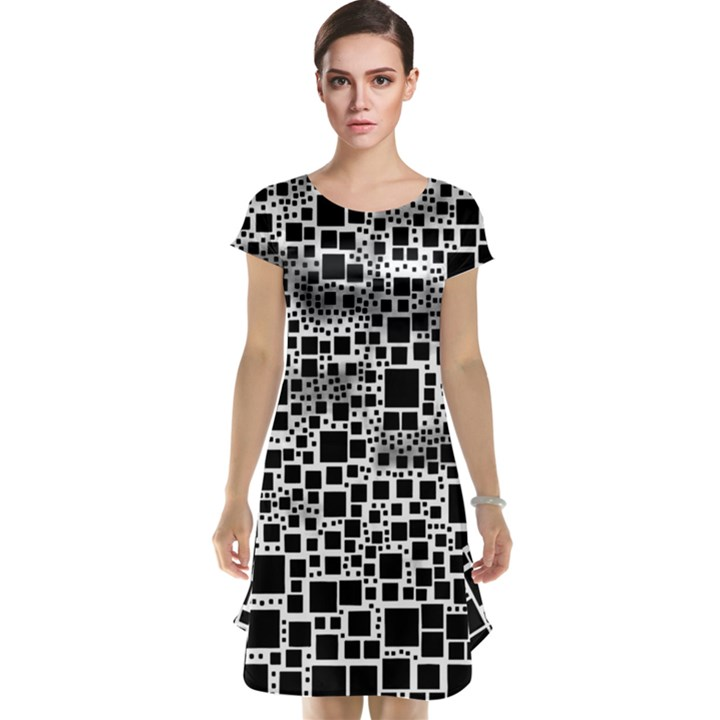 Block On Block, B&w Cap Sleeve Nightdress
