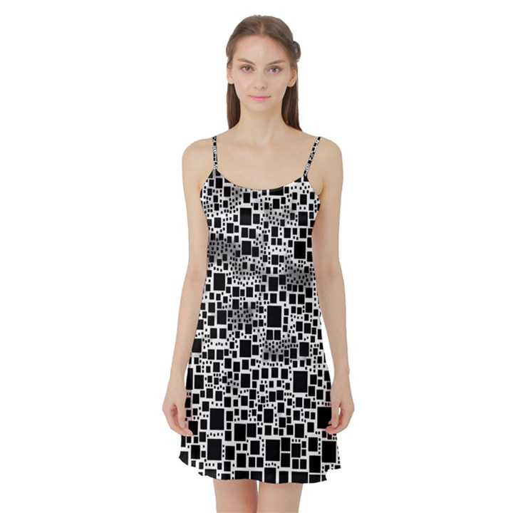 Block On Block, B&w Satin Night Slip
