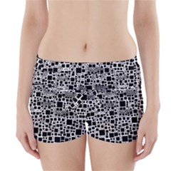 Block On Block, B&w Boyleg Bikini Wrap Bottoms