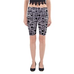 Block On Block, B&w Yoga Cropped Leggings