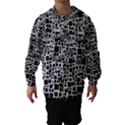 Block On Block, B&w Hooded Wind Breaker (Kids) View1