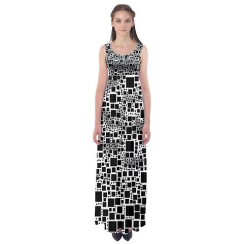Block On Block, B&w Empire Waist Maxi Dress