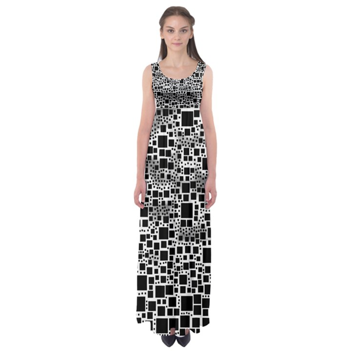 Block On Block, B&w Empire Waist Maxi Dress