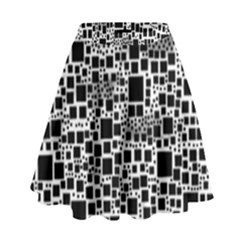 Block On Block, B&w High Waist Skirt