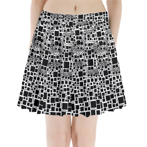Block On Block, B&w Pleated Mini Skirt