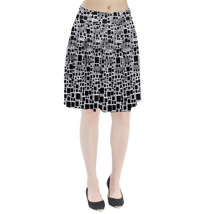 Block On Block, B&w Pleated Skirt