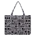 Block On Block, B&w Medium Tote Bag View1