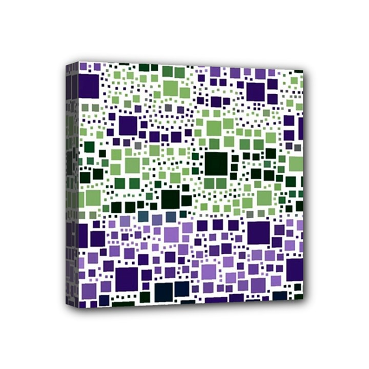 Block On Block, Purple Mini Canvas 4  x 4