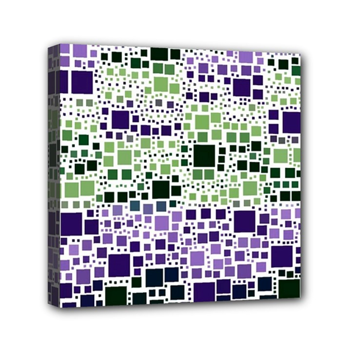 Block On Block, Purple Mini Canvas 6  x 6