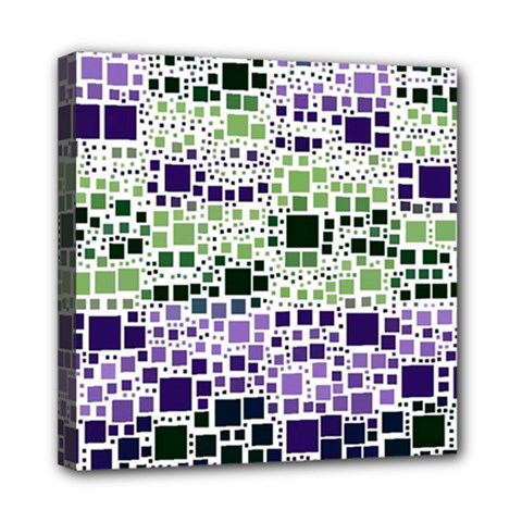 Block On Block, Purple Mini Canvas 8  x 8