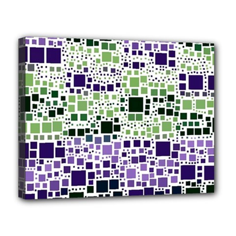 Block On Block, Purple Canvas 14  X 11