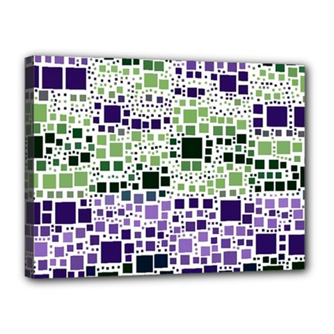 Block On Block, Purple Canvas 16  x 12