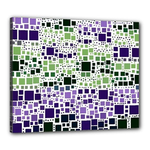 Block On Block, Purple Canvas 24  x 20