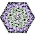 Block On Block, Purple Mini Folding Umbrellas View1
