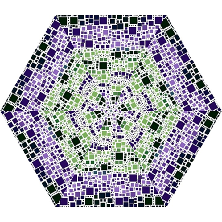Block On Block, Purple Mini Folding Umbrellas