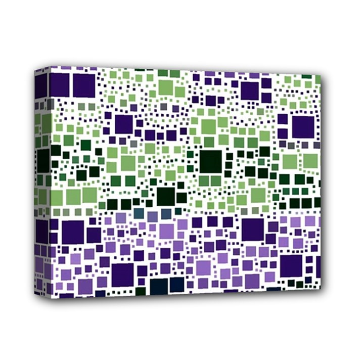 Block On Block, Purple Deluxe Canvas 14  x 11