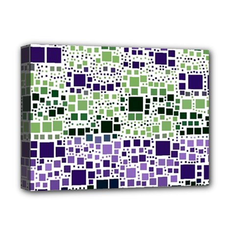 Block On Block, Purple Deluxe Canvas 16  x 12