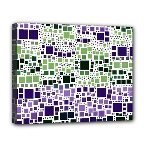 Block On Block, Purple Deluxe Canvas 20  X 16