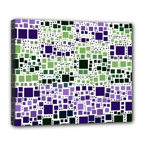 Block On Block, Purple Deluxe Canvas 24  x 20