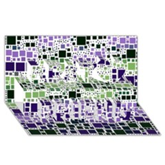 Block On Block, Purple Best Friends 3D Greeting Card (8x4)