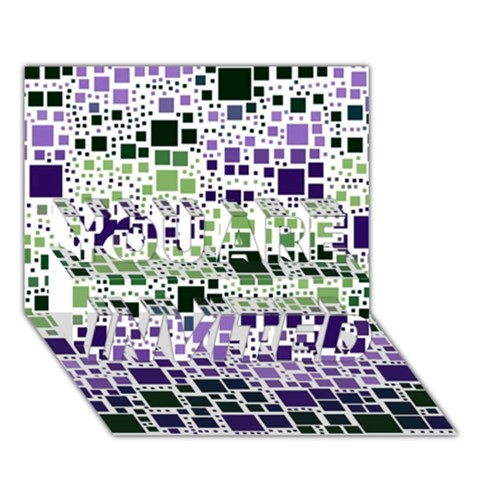 Block On Block, Purple YOU ARE INVITED 3D Greeting Card (7x5)