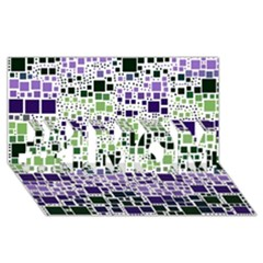 Block On Block, Purple #1 MOM 3D Greeting Cards (8x4)