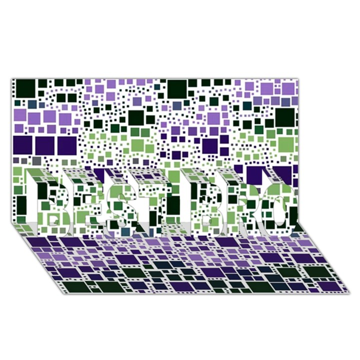Block On Block, Purple BEST BRO 3D Greeting Card (8x4)
