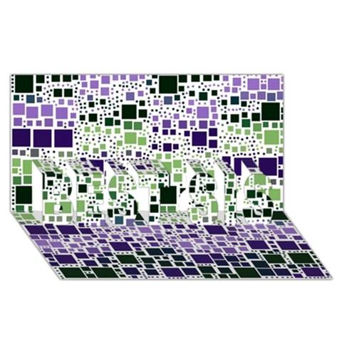 Block On Block, Purple BEST SIS 3D Greeting Card (8x4)
