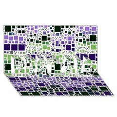 Block On Block, Purple BEST SIS 3D Greeting Card (8x4)