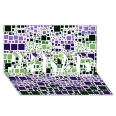 Block On Block, Purple #1 Dad 3d Greeting Card (8x4)