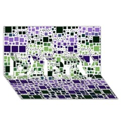 Block On Block, Purple Party 3d Greeting Card (8x4)