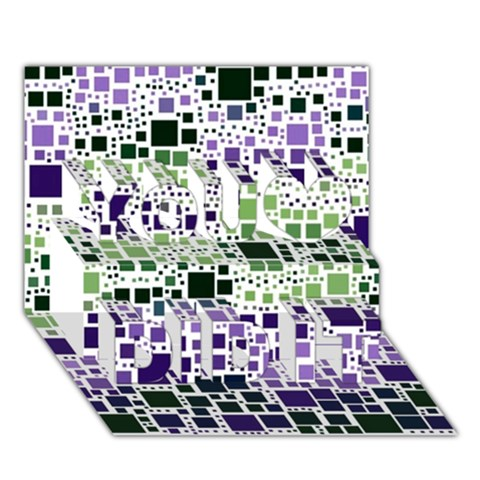Block On Block, Purple You Did It 3D Greeting Card (7x5)