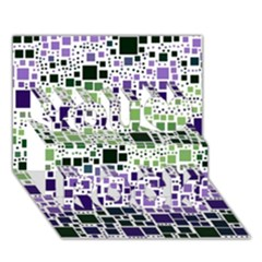 Block On Block, Purple You Rock 3D Greeting Card (7x5)