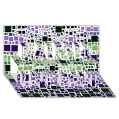Block On Block, Purple Laugh Live Love 3d Greeting Card (8x4)